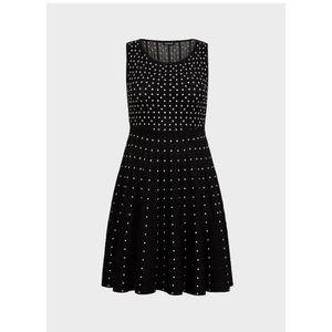 Torrid Sweater Knit Polka Dot Swing Dress size 4